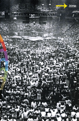 """The photo used as the lead in for Philadelphia Magazine's """"Oral History of The Spectrum,"""" feature story, beginning on page 72, is erroneously labeled as a 1984 Bruce Springsteen Concert. The photo is a shot of the Rolling Stones Lotus Leaf stage from their 1975 tour. A schematic diagram and several other shots of the stage are viewable on my blog and web site: www.rogerbarone.com/rollingstones.html."""