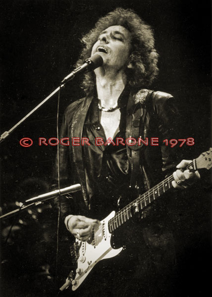 Bob Dylan on The Spectrum stage in the fall of 1978. © ROGER BARONE