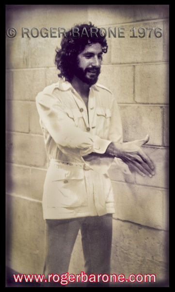 Cat Stevens backstage before his bicentennial year concert at The Spectrum. © ROGER BARONE 1976