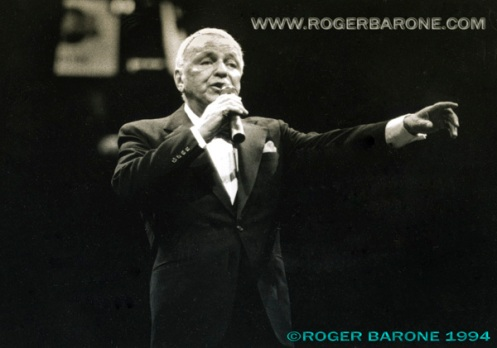 Frank Sinatra performing at the Spectrum during one of his last Philadelphia performances. © ROGER BARONE 1994