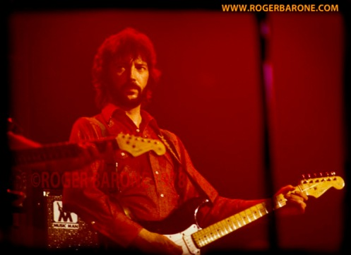 eric clapton performing at spectrum arena philly 1978