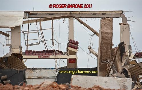 spectrum seats in demolished framework