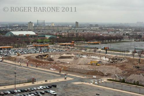 spectrum arena demolition site