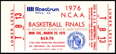 1976 NCAA ChAMPIONSHIP TICKET
