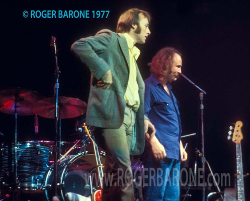 stephen stills & david crosby on spectrum arena stage in philadelphia, june 1977; photo by © roger barone