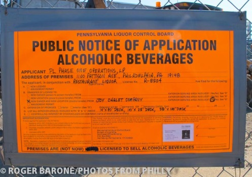 philly live public notice for alcoholic beverages, photo © roger barone 11/24/2011