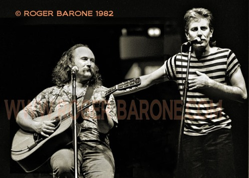 David Crosby & Graham Nash play acoustic set at Spectrum Arena © ROGER BARONE 1982