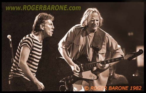 Graham Nash & Stephen Stills jamming at the Spectrum Arena august 1982, photo by roger barone