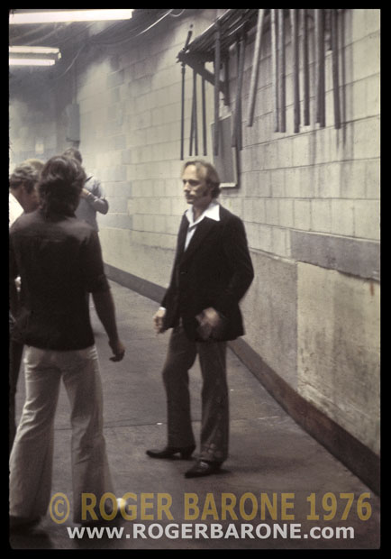 Stephen Stills backstage at the Spectrum Arena © roger barone, june 29, 1976