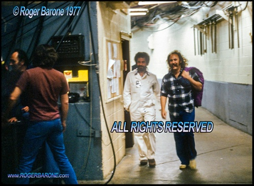 David Crosby backstage Spectrum Arena, June 1977. photo by roger barone